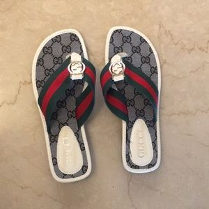 Women s White And Black Gucci Sandals on Poshmark 86f62f95c5a6